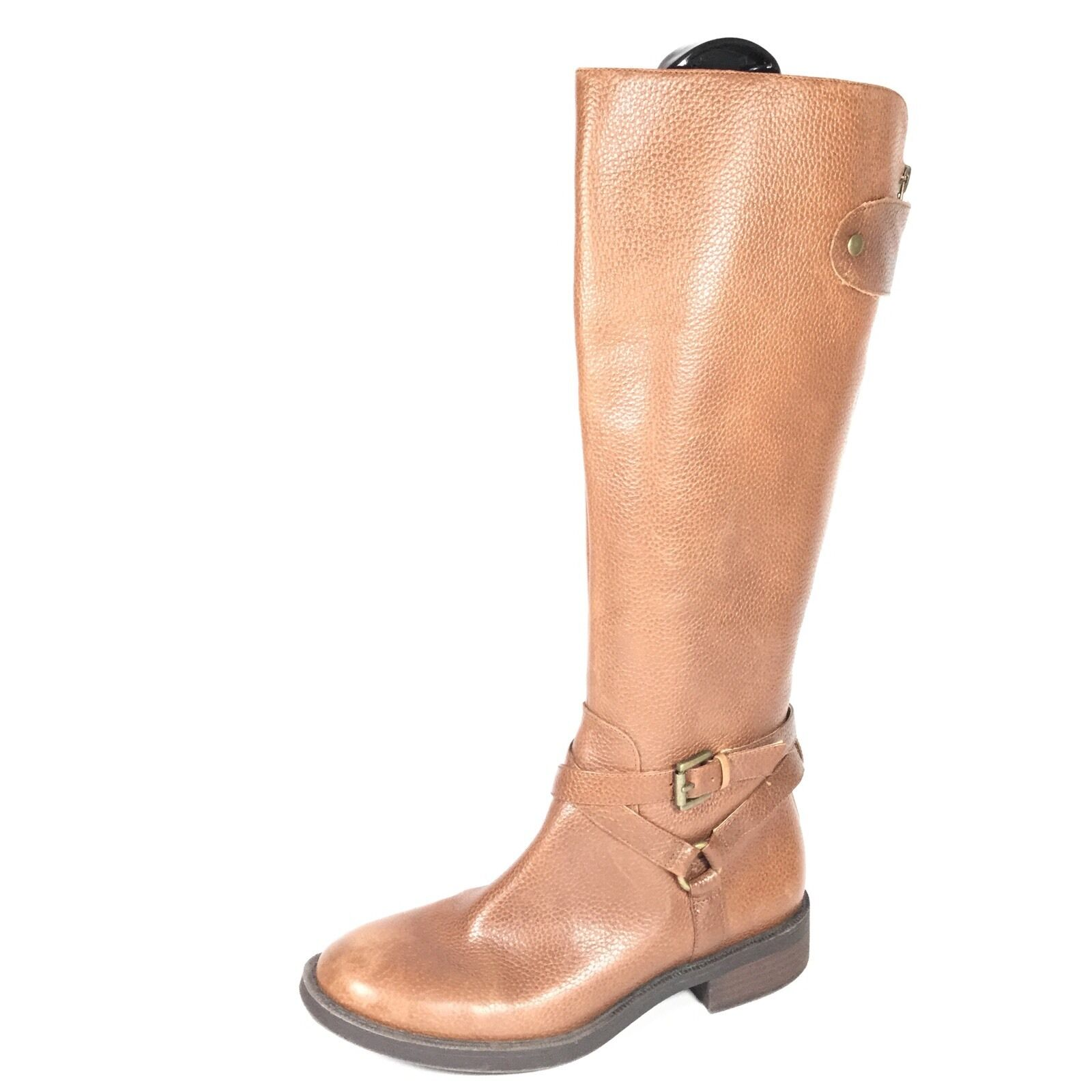 Enzo Angiolini Easaevon Women's Size 6.5 M Brown Leather Riding Boots