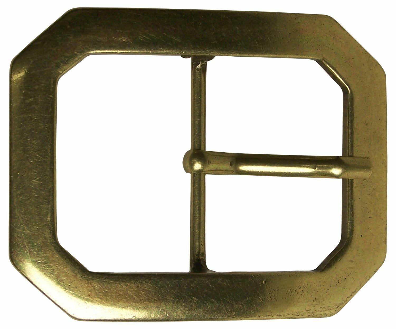 FRONHOFER Belt buckle old brass, rectangular shape, buckle, 1,7