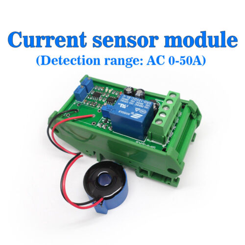 Current Detect Sensor AC 0-50A Full Range Linear Adjustable Relay Output Case b
