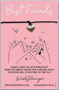 Wish Bracelet. Best Friends Pinky Promise. Handmade in the UK Gift For Friend