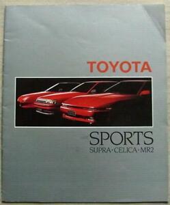 TOYOTA SPORTS SUPRA CELICA MR2 Car Sales Brochure c1987 #00000-90427-BR