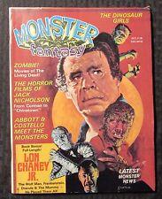 1975 MONSTER FANTASY Magazine v.1 #4 FN- 5.5 Lon Chaney Jr Jack Nicholson