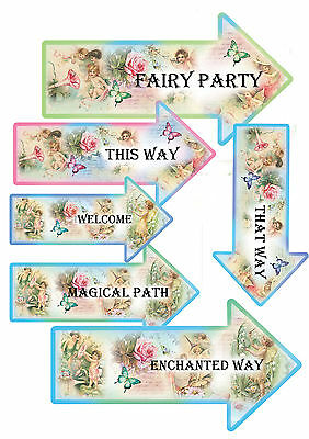 12 Fairy Party Arrows Decorations-Fairy Party Enchanted Magic Birthday