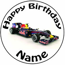 Personalised Formula 1 Racing Car Birthday Stickers Cake Bag Thank You fun 506