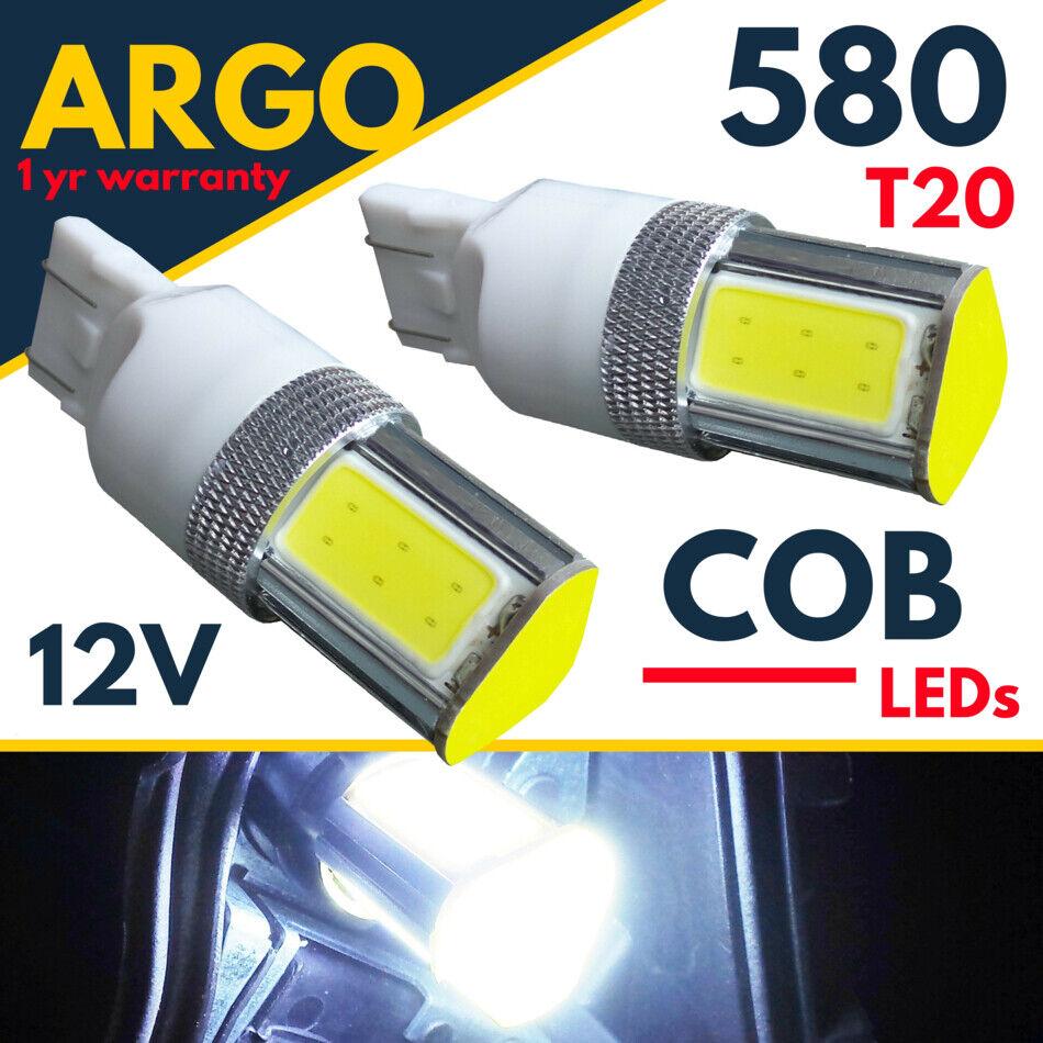 2x T20 7443 582 580 W21//5W LED 6W Sidelight Daytime Running Light Bulb DRL White