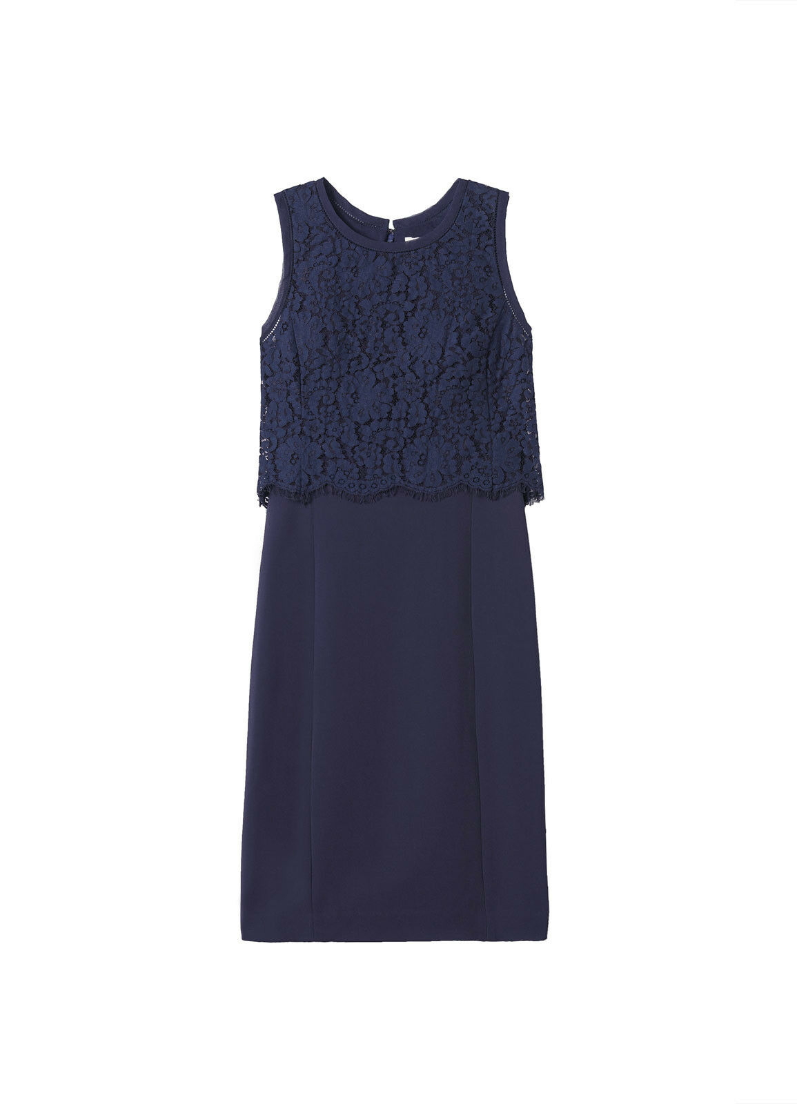 REBECCA TAYLOR Sleeveless Refined Suiting Dress with Lace, Size 8