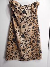 The Limited Womens sz 6 Strapless Leopard Print Party Dress