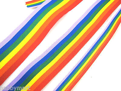 Gay Pride Rainbow Ribbon 10mm /25mm /35mm Double Side Grosgrain Gay Pride Ribbon