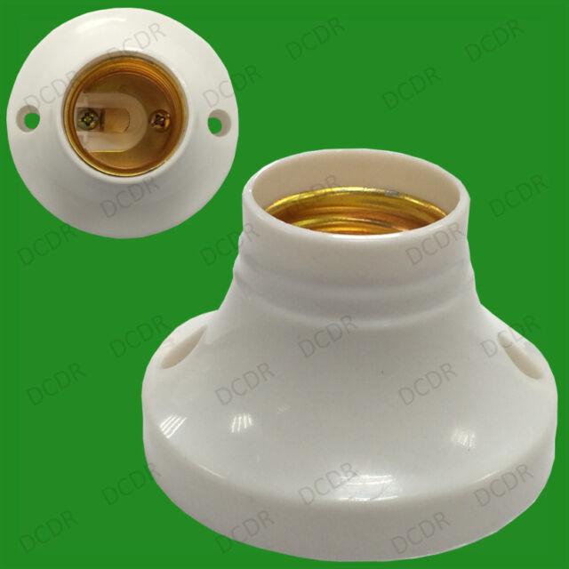 Edison Screw Socket, ES E27 Light Bulb Holder, Lamp Surface Fixing, 63mm Base 6A