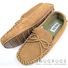 06e4664cc329 item 4 Mens Traditional Genuine Suede Leather Moccasin   Slippers with Rubber  Sole -Mens Traditional Genuine Suede Leather Moccasin   Slippers with Rubber  ...