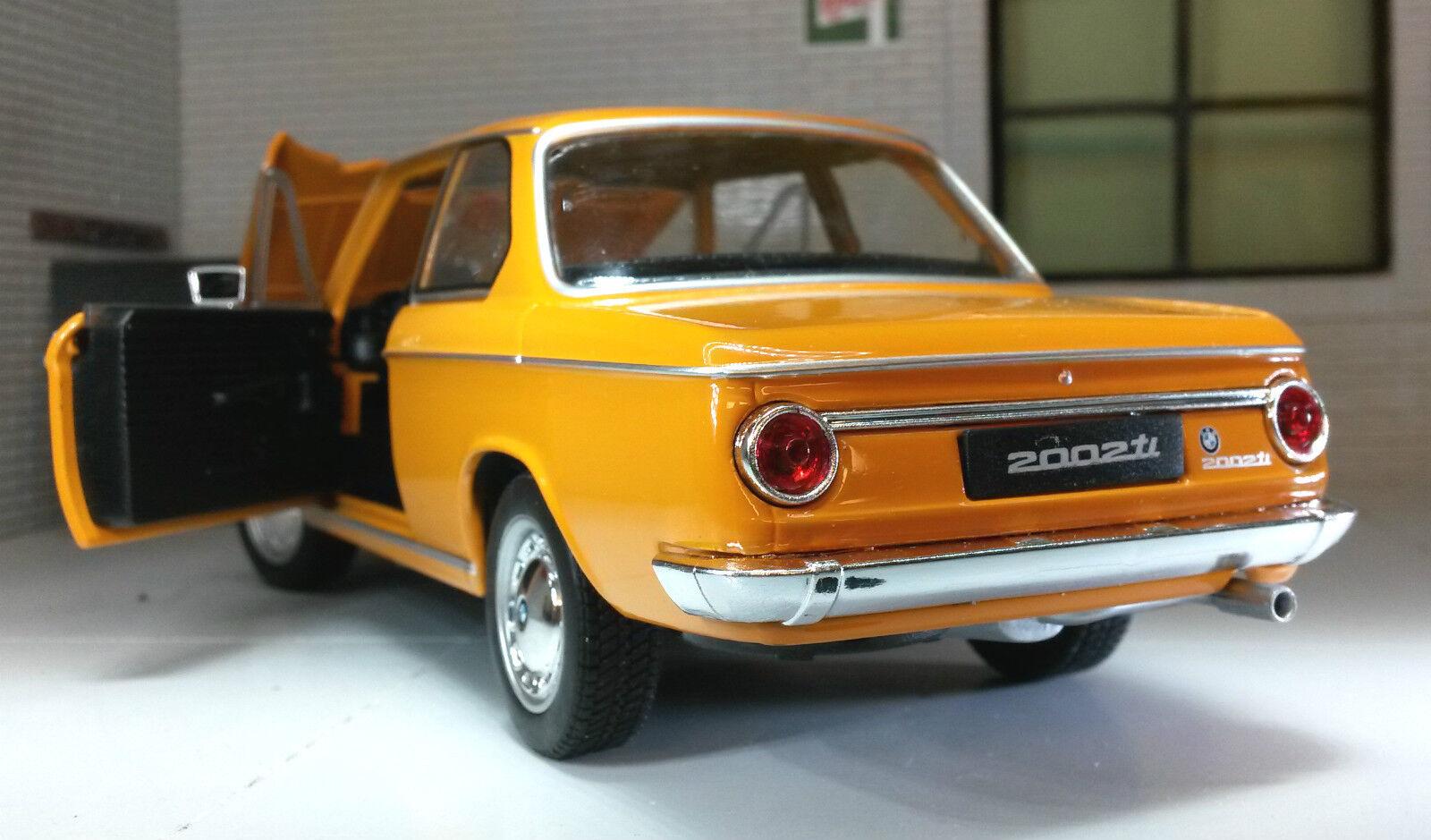 G LGB 1 24 Escala BMW 2002 Ti Tii 1966 1966 1966 Detallado Welly Fundido Modelismo Coche 4a41fe