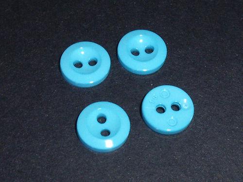 30 unidades botón botones 11 mm mercancía nueva turquesa plástico 2 agujeros