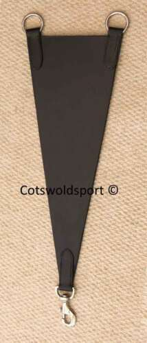 CS   Black Leather Bib clips to Martingale Breastplate