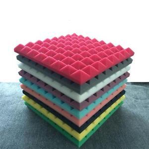8pc Acoustic Foam Insulation Tile Studio Sound Proof Isolation Square Panel 50cm