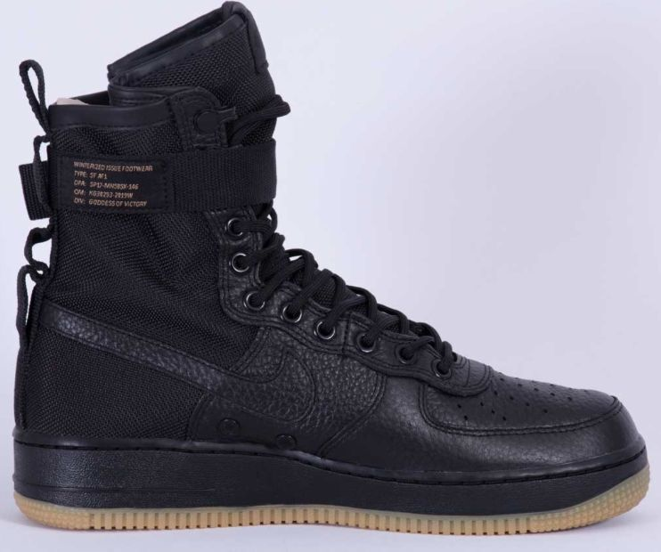 Nike Air Force 1 Triple Special Field SF AF1 Triple 1 Black Gum Sole 864024-001 Size 8-13 34540d