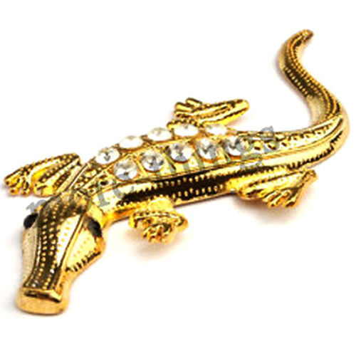 3D crocodile Car Racing Chrome Badge Emblem Sticker Gold auto Decals gold
