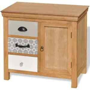 Storage Cabinet Sideboard Buffet Cupboard Solid Wood With 3 Drawer