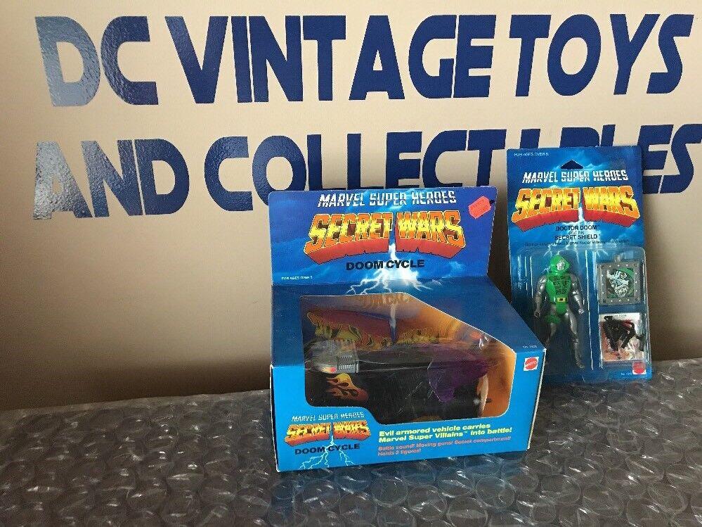 Secret Wars Dr. Doom & Doom Cycle Lot Of 2 Sealed Carded 1984 Mattel Vintage