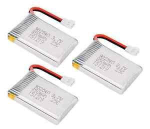 3x-Lipo-Akku-850mAh-1S-3-7V-Molex-SYMA-X5-X5C-X5SW-H5C-X5SC-1-Explorers-K-300-RC