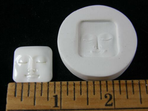 #MD1482 Face Polymer Clay Mold Square Shape