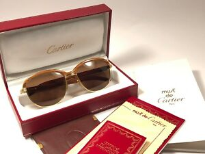 497bca8c844 Image is loading VINTAGE-CARTIER-MALMAISON-BUBINGA-PRECIOUS-LIGHT-WOOD-54MM-