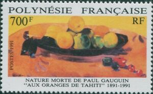 French-Polynesia-1991-Sc-566-SG616-700f-Oranges-of-Tahiti-painting-MNH
