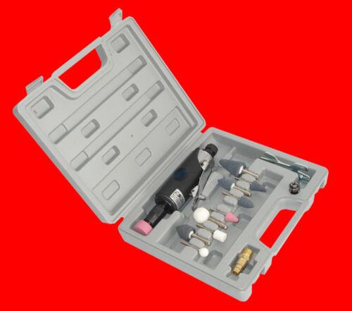 Druckluft Mini Stab Schleifer Pneumatik Schleif Maschine Gerät inkl Koffer TP211