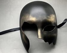 Halloween Black Gold Half Face Ball Prom Costume Masquerade Men's Mask