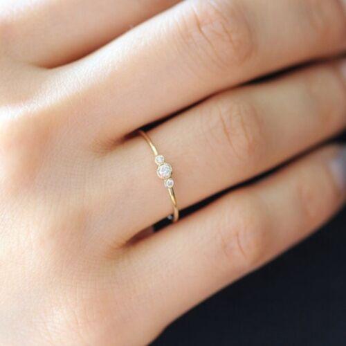 Damen Fingerring Bandringe Strass Ringe Modeschmuck Verlobungsring Einfach Love