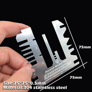Etched Type Folding Hand Pressure Auxiliary Ruler Tool for Gundam Model Etching