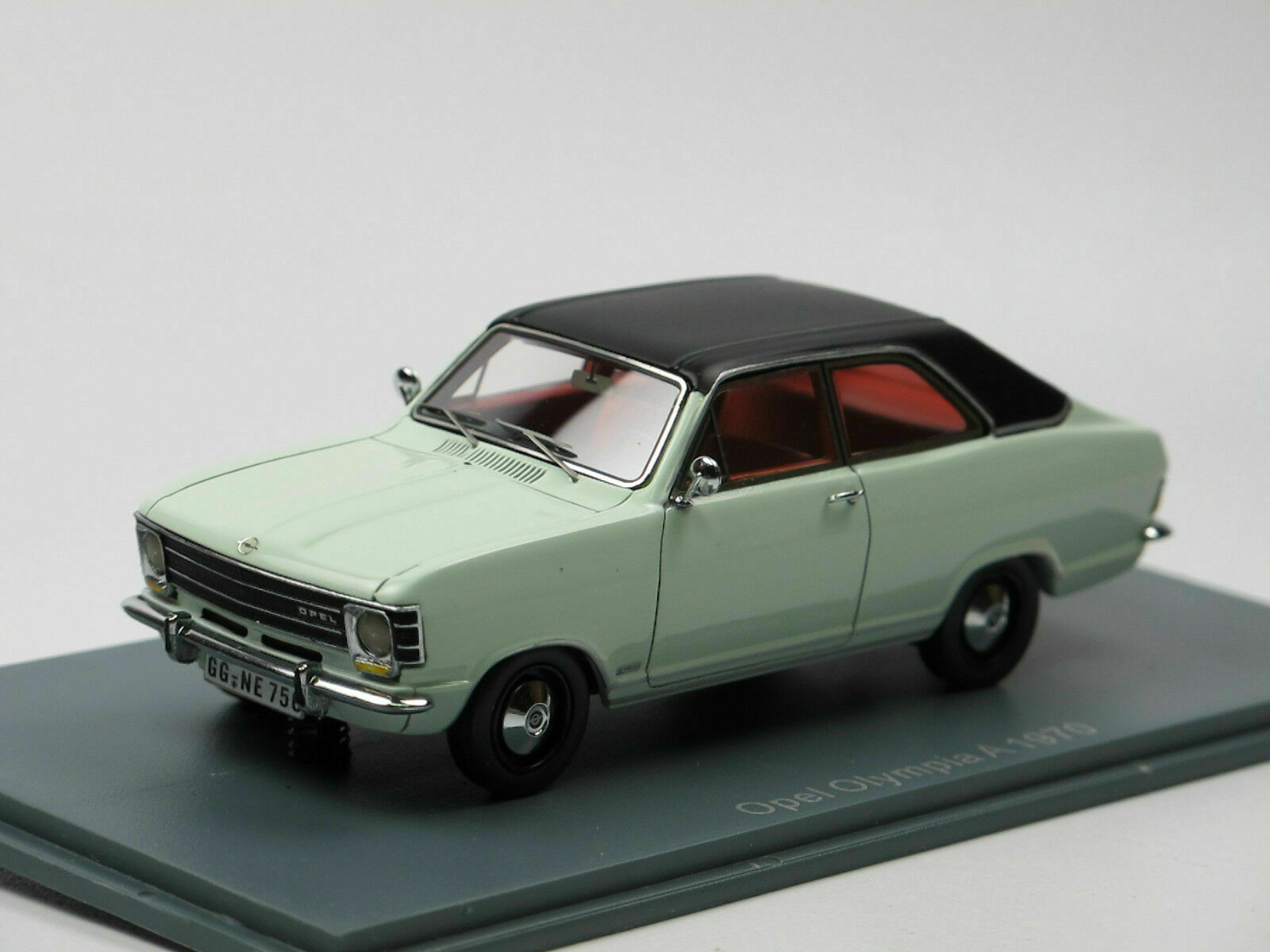 OPEL OLYMPIA A 1970 COUPE blanc NEO 43756 1 43 WEISS BIANCE BLANC RESIN
