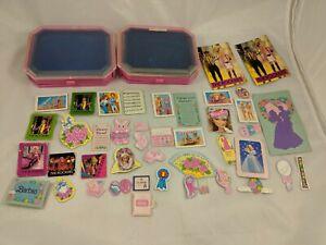 Mattel-Barbie-Pink-Storage-Drawer-Trays-1986-Cardboard-Accessories