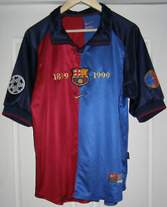 designer fashion a18c8 4c41f Details about Camiseta Barcelona 1999 2000 Centenary shirt Rivaldo 11  Champions League jersey
