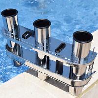 Hot Sale Fishing Outrigger Rod Holder Tackle Rack Stainless Steel 3 Tube Holder