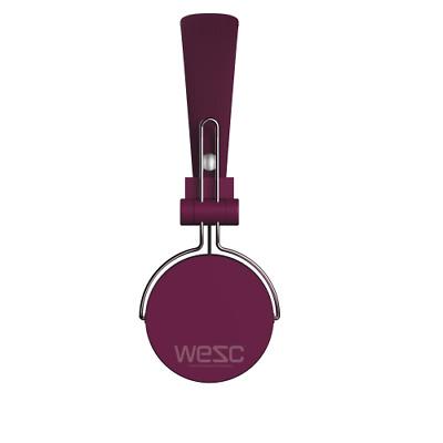 WESC M30 On-Ear Wired Headphone Bügel Kopfhörer mit Mikrofon in lila