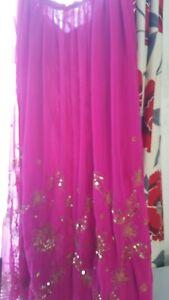 calda Gonna hot zingara pink in oro paillettes indiana con dettaglio grFIrZT