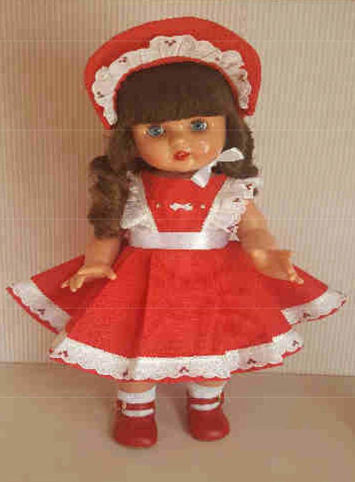 Mariquita Pérez vinilo vestido rojo puntilla.  MP50210
