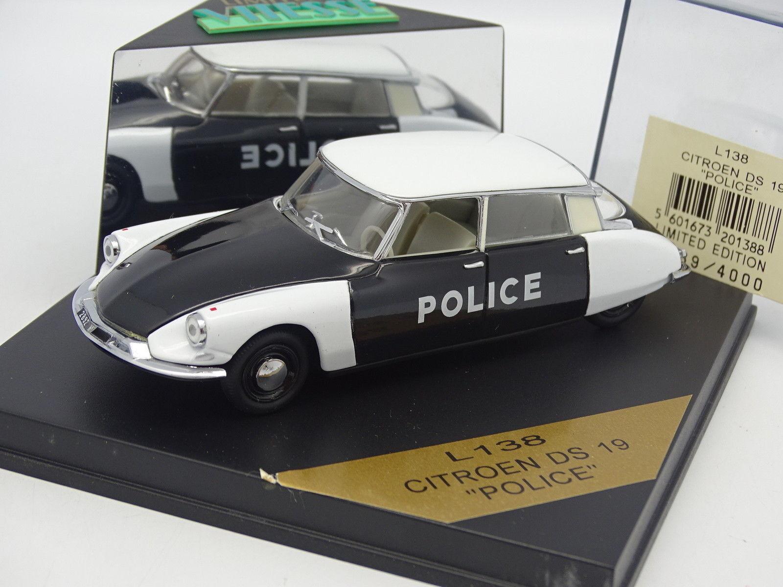 precios ultra bajos Velocidad 1 43 43 43 - Citroen DS 19 Police (Policía)  alta calidad
