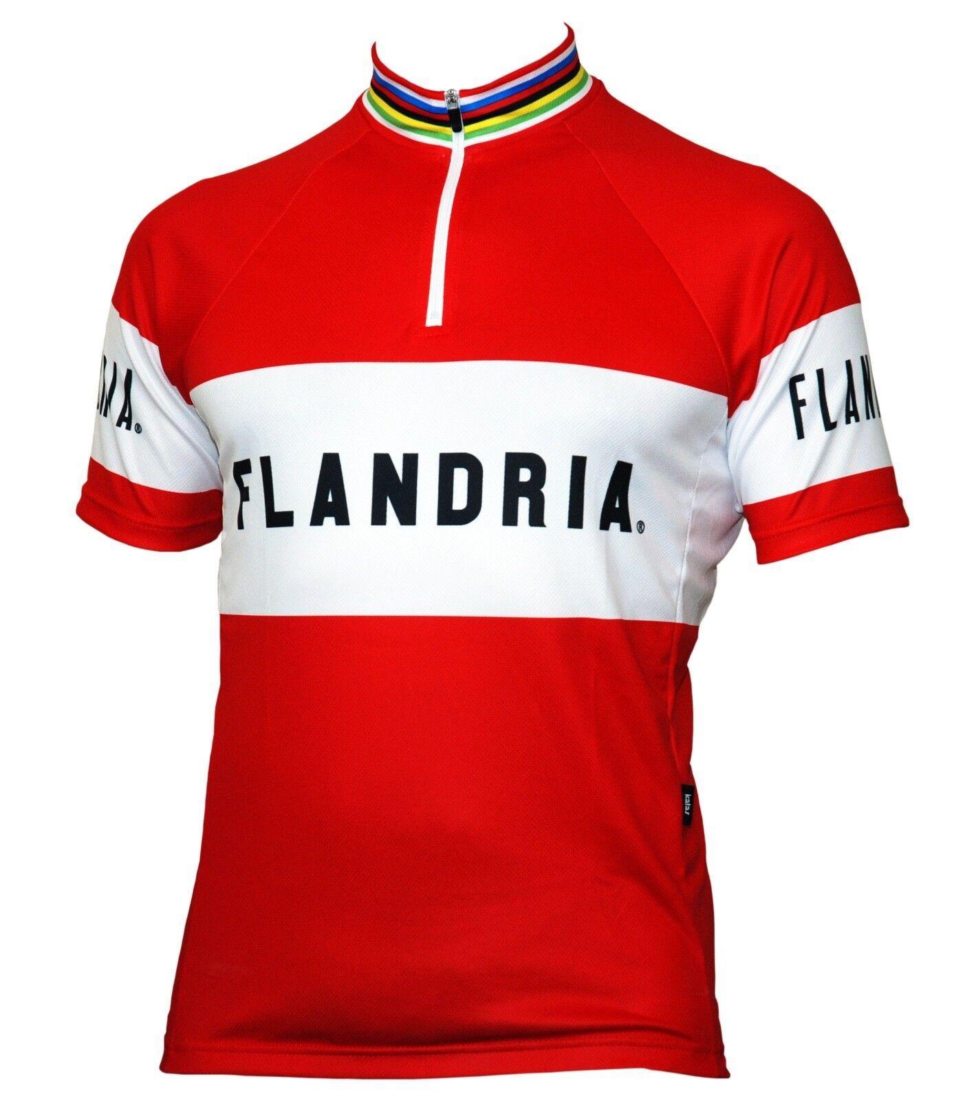 Genuine FLANDRIA Short Sleeve Cycling Jersey - Retro Design - New