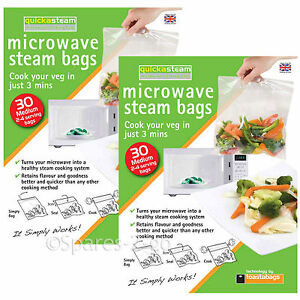 Image Is Loading Microwave Oven Vegetable Steam Bags Quick Veg Steaming