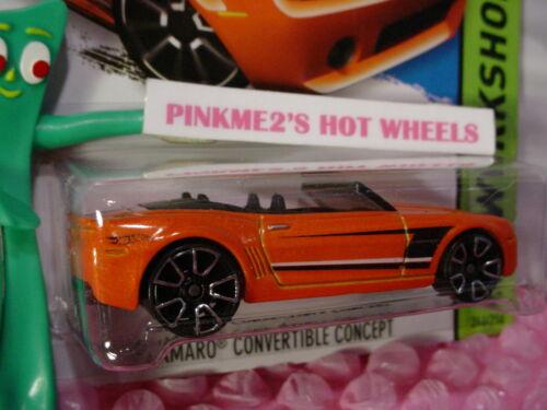 Case P//Q 2015 i Hot Wheels CAMARO CONVERTIBLE CONCEPT #246☆Orange;TRAP5☆Then Now