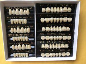 84 Pcs 3 Set Acrylic Resin Denture Teeth VITA Color A3 Upper