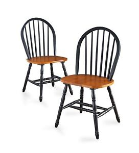 Superieur Image Is Loading Autumn Lane Windsor Chairs Set Of 2 Black