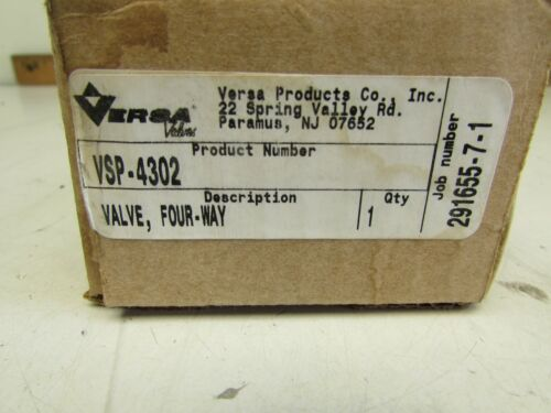 BRASS BODY MAKE OFFER! 4-WAY VALVE VERSA VALVES VSP-4302 NEW 1//4/""