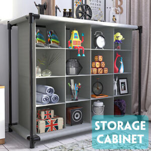 Interlocking-16-Compartment-Shoe-Organiser-Storage-Cube-Rack-Display-Stand