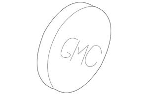 Genuine GM Wheel Cap Emblem 15634862