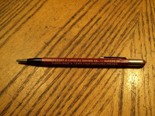 Vintage Autopoint Mechanical Pencil Bakers of KleenMaid & Town Talk Breads USA
