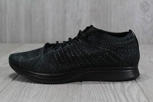 2696808771b37 37 Nike Flyknit Racer Triple Black Shoe 526628-009 Mens 5.5 - 7.5 ...