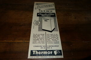 THERMOR-ORLEANS-CENDRILLON-Publicite-de-presse-Press-advert-1956