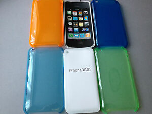 CLEAR-CRYSTAL-HARD-PLASTIC-BACK-CASE-COVER-FOR-APPLE-iPHONE-3-3GS-4-COLOURS